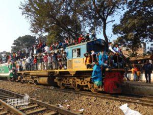 Train journey Bangladesh
